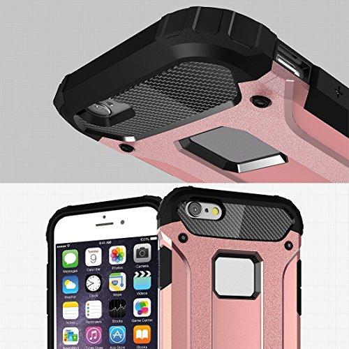 Phone case & Hülle Für IPhone 6 / 6s, Tough Armor TPU + PC Kombi-Gehäuse ( Color : Grey ) Magenta