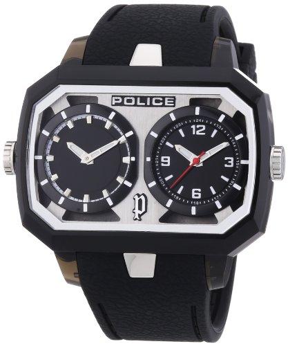 Police - P13076JPB-02A - Montre Homme - Quartz Analogique - Bracelet Caoutchouc Noir