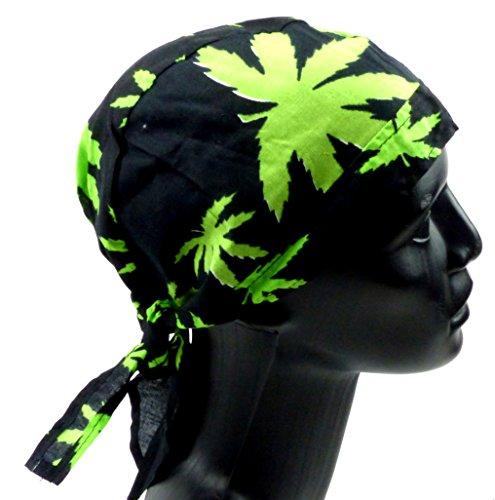 Beaucoup Tête Lingettes Bandanas Headscarf bande Annas pour enfants et adultes (Cuba Black) Cannabis