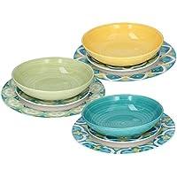 Tognana Servizio tavola 18 Pezzi Amalfi, Porcellana, Multicolor