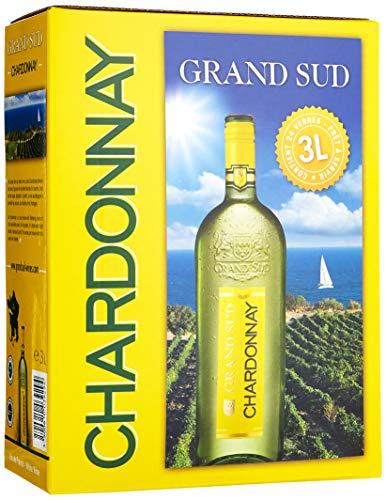 Grand Sud Bag-in-box Chardonnay Trocken (1 x 3 l) Fisch-butter