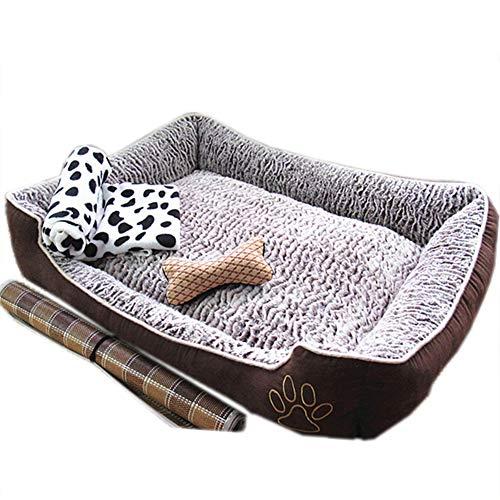 XHPWW Suave y cálida Cama Nido para Perros, Alfombrilla para Perro, cómodo...