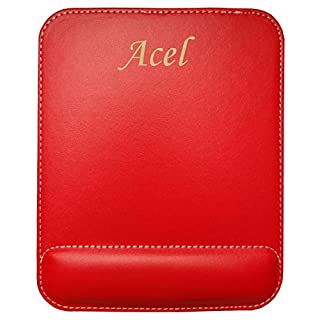 Personalised leatherette mouse pad with text: Acel (first name/surname/nickname)
