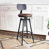 BY-lYJ Amerikanischer Weinlese-Schmiedeeisen-Aufzug-Barhocker Retro Alter Barhocker-Bar-Schemel Hoher Schemel-kreativer Stuhl (Farbe : A)