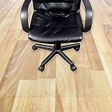 Transparente Bodenschutzmatte in zahlreichen Größen | passgenauer Schutz von Hartböden | Unterlegmatte unter Bürostühle, Fitnessgeräte etc. (100x190cm)