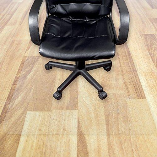 Transparente Bodenschutzmatte in zahlreichen Größen   passgenauer Schutz von Hartböden   Unterlegmatte unter Bürostühle, Fitnessgeräte etc. (100x250cm)