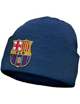 FC Barcelona - Kinder Beanie Strickmütze mit Vereinswappen - Offizielles Merchandise - Geschenk für Fußballfans