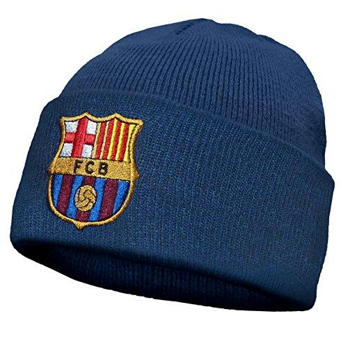 FC Barcelona - Beanie Strickmütze mit Vereinswappen - Offizielles Merchandise - Einheitsgröße (Erwachsene/Jugendliche) - Barcelona Fc Messi Offizielle Mütze