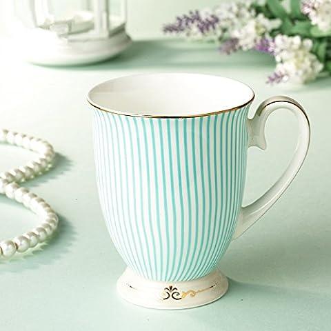 Rayas minimalista tazas de cerámica creative taza taza de café de porcelana china Oficina tazón de agua portavasos