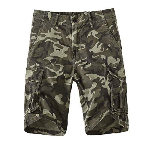 Binggong Herren Camouflage Cargo Shorts Bermuda Kurze Hose Sommer Vielen Taschen SweatshortsSportswear Fitness Trainingsshorts 30-40