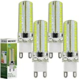 MENGS® 4 Stück G9 LED Lampe 7W AC 220-240V Kaltweiß 6500K 152x3014 SMD Mit Silikon Mantel