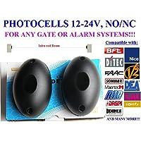 Coppia fotocellule universali - alimentazione 12-24V ac-dc, N.O / COM / N.C adattabile a qualsiasi (Universale Ac Parete)