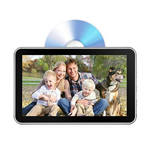 Kopfstütze, 26 cm (10,1 Zoll) DVD-Player für Rücksitz-Unterhaltung, 1080P HD Touchscreen, automatische Aufladung mit Saugnapf, unterstützt CD/DVD/USB/TF/MP4 ()