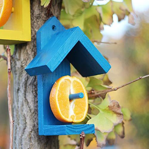 JXXDDQ Mangeoire d'oiseaux d'observation d'oiseaux de pavillon d'oiseaux de Alimentation de Fruit, décoration extérieure de Jardin d'observation d'oiseaux (Couleur : Bleu)