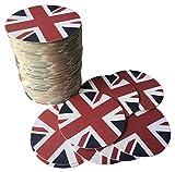 Bierdeckel Großbritannien | 25 Stück | Rund | Doppelseitig bedruckt | UK Style