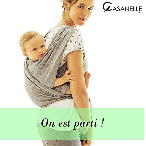 Echarpe de portage bebe   porte bebe gris léger ☆Offert livre ebook tutos    5 techniques ... 3e02b1ba8d1