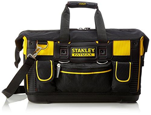 Stanley FatMax Werkzeugtasche (50 x 30 x 29 cm, schlagfester Boden, Aufbewahrungstaschen im Inneren, große Öffnung für leichten Zugang, aus robustem Material) FMST1-71180