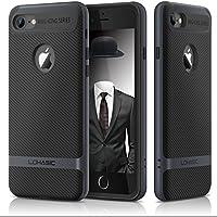 Custodia iphone 7 , Premium armor [doppio strato] paraurti [Cornice dura del PC + TPU interno] in fibra di carbonio rivestita con ottimo anti-scivolo e della copertura della cassa antiurto per iPhone