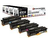 4 Original Reton Toner | 25%  mehr Druckleistung | kompatibel,  als Ersatz für HP 410X (CF410X, CF411X, CF412X, CF413X), HP Color Laserjet Pro MFP M477fdw , Pro MFP M477fdn , Pro MFP M477fn , Pro MFP M477fnw , Pro M452dn , Pro M452nw, Pro MFP M377dw | Geprüft nach ISO-Norm 19798|