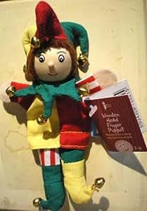 Fiesta Crafts - Marionnette à Doigt Bois et Tissu - Marionnette à Doigt Le Fou