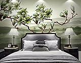 HHCYY 3D Tapete Neue Chinesische Magnolie Duft Dreidimensionale Floral Tv Hintergrund Wandbild-200cmx140cm
