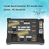 MachinYeseed RC Flugzeug Spielzeug Modul Sounds/Licht Simuliertes System für Flugzeug Drohne Fahrzeug Fernbedienung Fahrzeug DIY Teil Schwarz
