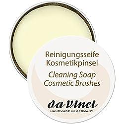 Da Vinci - Sapone detergente per pennelli da trucco, 40 g