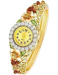 YouBella Luxury 18K Rose Gold Alloy Bangle Watch Bracelet Jewellery For Women