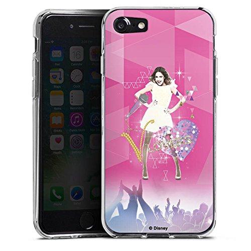 Apple iPhone SE Hülle Case Handyhülle Disney Violetta Fanartikel Geschenke Silikon Case transparent
