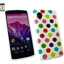 Emartbuy® LG Google Nexus 5 cover Gel Y Lunares De Case / Carcasa / Funda / Cubierta Multicolor