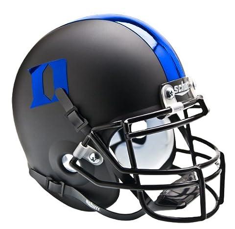 NCAA Duke Blue Devils Collectible Alt 3 Mini Helmet, Matte Black Blue