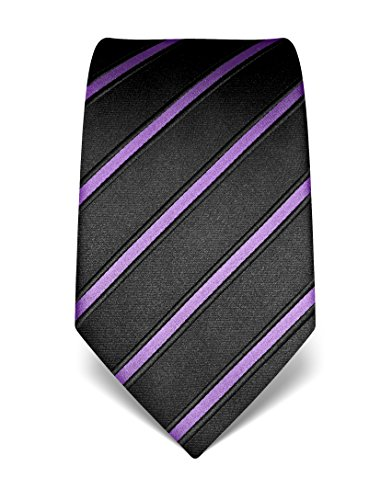 Corbata Negro / Lila Seda