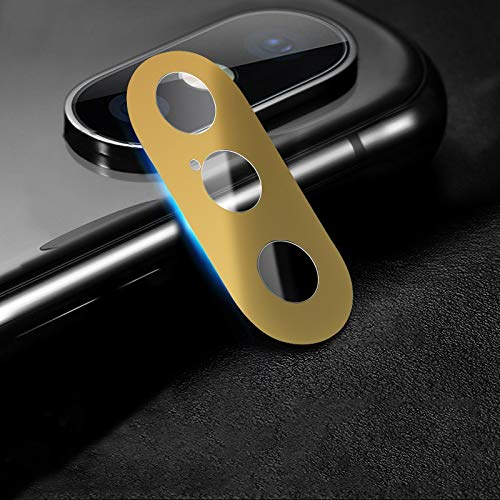 webcam cover, cobertura completa del teléfono móvil del metal de la cámara trasera cubierta protectora del lente, for iphone xs xs/max/x (2 pcs, 10d) (color : gold)
