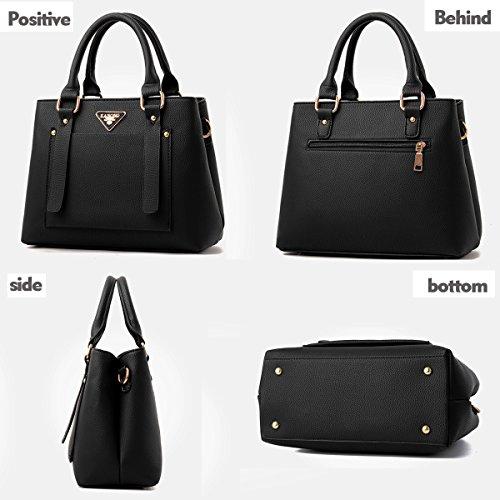 Tisdaini Borsa delle donne di affari del messaggero del raccoglitore dell'unità di elaborazione dell'unità di elaborazione della borsa della borsa delle donne casuali retro nero