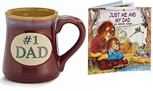 # 1 Dad Porzellan Tasse mit Buch Just Me and My Dad by Mercer Mayer Perfektes Geschenk für Söhne zum Vatertag (Und Mercer Söhne)