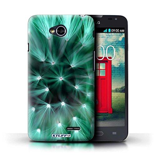 Kobalt® Imprimé Etui / Coque pour LG L70/D320 / Jaune conception / Série Couleur/Lumière Fleur Turquoise