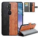 LFDZ Handyhülle für Nokia X71 Hülle,Premium 2 in 1 Abnehmbare PU Ledertasche für Nokia 6.2 Hülle,RFID-Blocker Flip Case Brieftasche Etui Schutzhülle für Nokia X71 Hülle/Nokia 6.2 Hülle,Black/Brown
