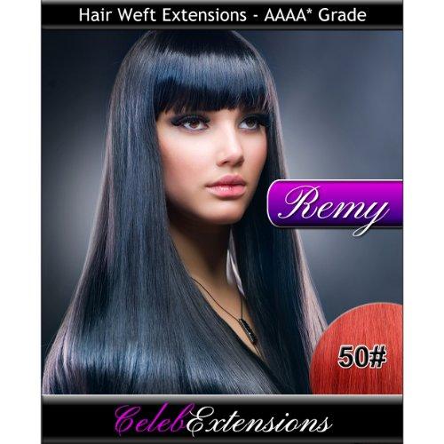 40,6 cm 50 # Cerise Indiens 100% humains Remy Hair Extensions capillaires Cheveux. Tissage Silky droit 6 m Poids : 100 g AAAA de grande qualité. Qualité. Par celebextensions