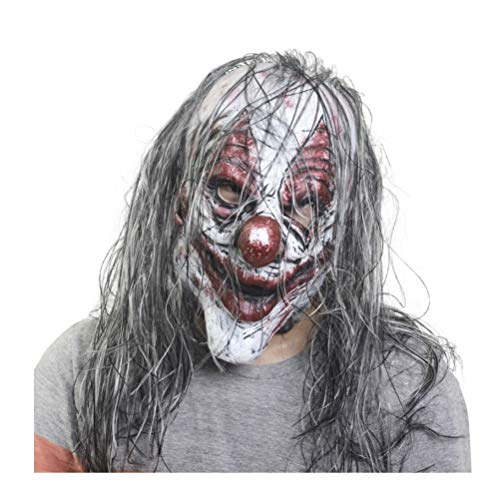 Kostüm Flammen Haar - LXDMASK Halloween Latex Maske Scary Latex Maske Für Maskerade Halloween Kostüm Party Realistische Horror Dekoration Mit Haaren