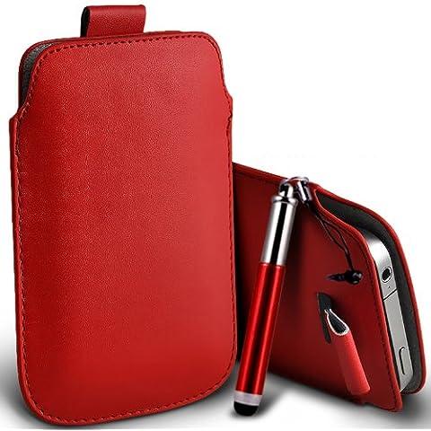Nokia Lumia 820 Premium (Rosso) protettiva in pelle PU Tab