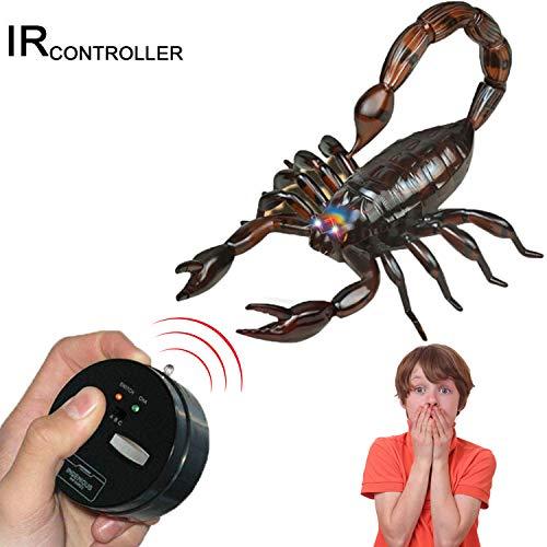 MyCreator Realistisches RC Skorpion Spielzeug, Infrarot-Fernbedienung, Fake Skorpion Riesen Skorpion RC Neuheit Spielzeug Mock Modell Strich Insekten Witz Gruselige Käfer für Party-Gastgeschenke