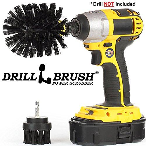 Drillbrush 2 pezzo nero ultra stiff es pulizia rotary utilizzati per la pulizia griglie, forni, al forno stiff nero-ultra