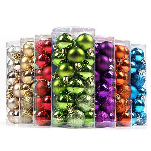 21sandwhick palline di natale, 24pcs 4/6 / 8cm palline di natale ornamento bagattelle decorazioni per appendere le finestre dell'albero di natale viola 8 centimetri