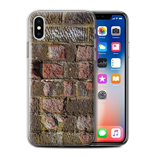 Stuff4 Gel TPU Hülle / Case für Apple iPhone X/10 / Pack 11pcs / Mauerwerk Kollektion Erodiert