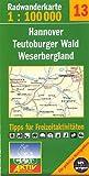 Fahrradkarte Radkarte Hannover Teutoburger Wald Weserbergland 1:100.000