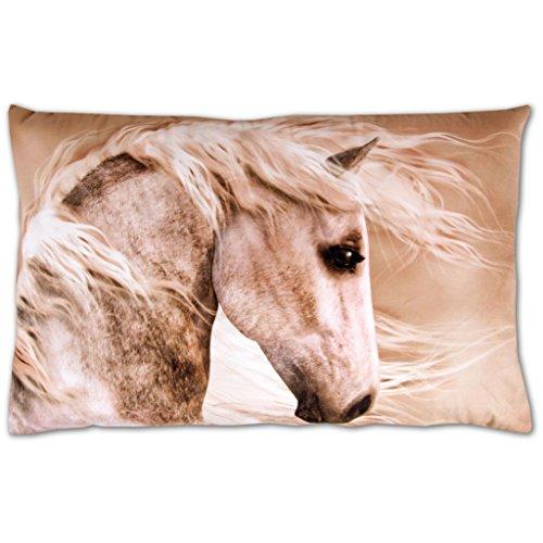 le Kissenbezug mit Motiv, bequem und dekorativ in vielen verschiedenen modernen Designs verfügbar ( Pferdekopf / 40x60cm ) (Pferdekopf-kissen)