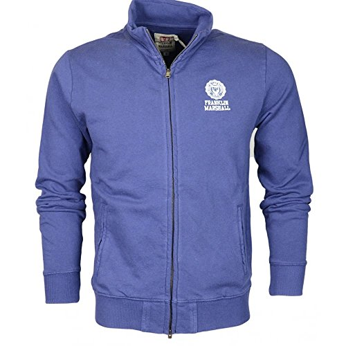 Franklin-Marshall-242AN-Cotton-Navy-Zip-Up-Fleece