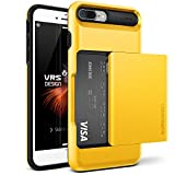 Cover iPhone 7 Plus, VRS Design [Damda Glide][Giallo]- [Scorrevole Semi-Automatico] [Porta carte di credito][Perfetto Protezione] For Apple iPhone 7 Plus 5.5
