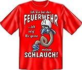 Feuerwehr T-Shirt Feuerwehrmann mit Schlauch Shirt 4 Heroes Geburtstag Geschenk geil bedruckt mit Urkunde