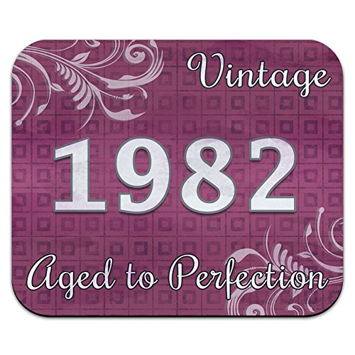 Aged to Perfection rosa Vintage 1982-Mouse Pad